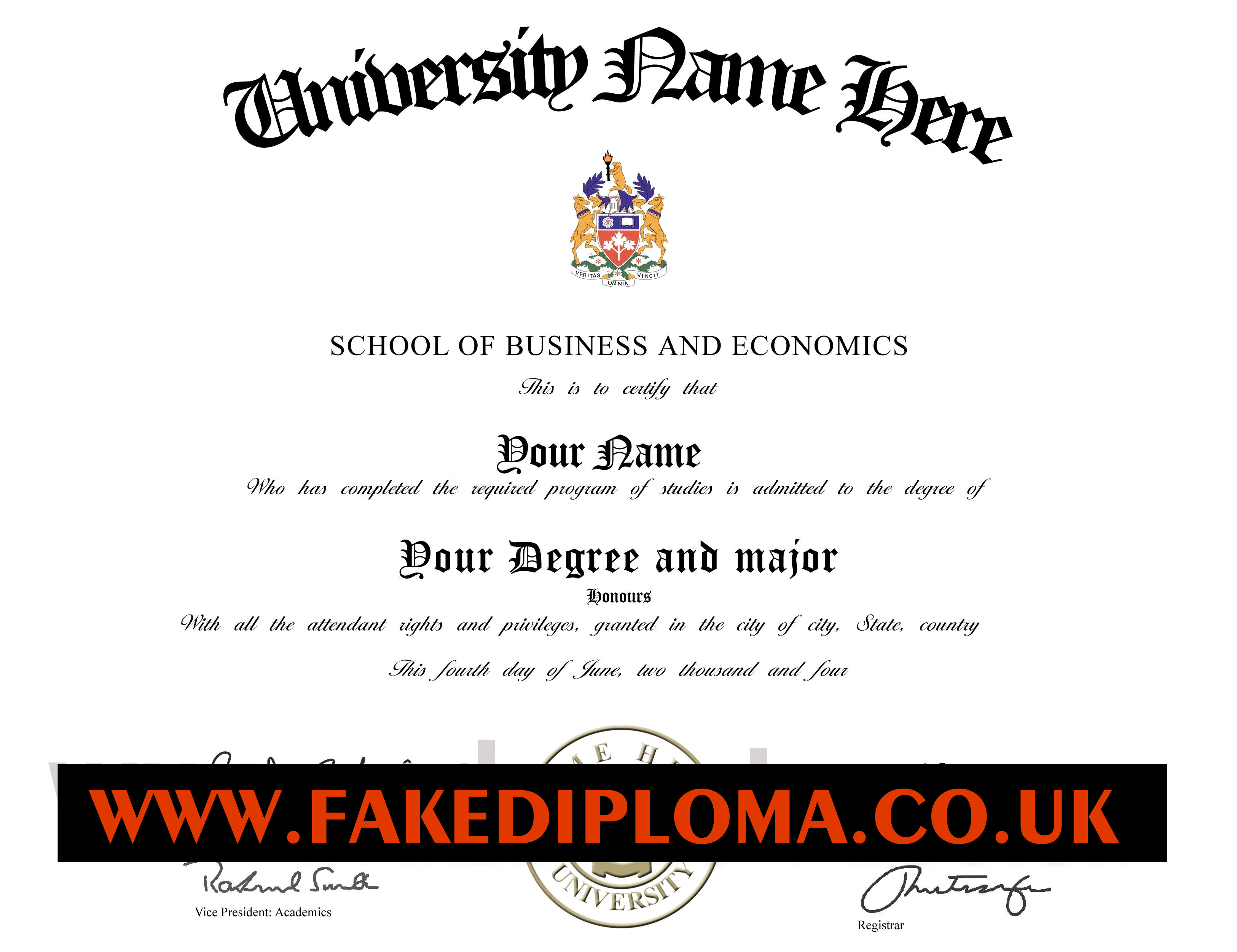 how to get a fake diploma made