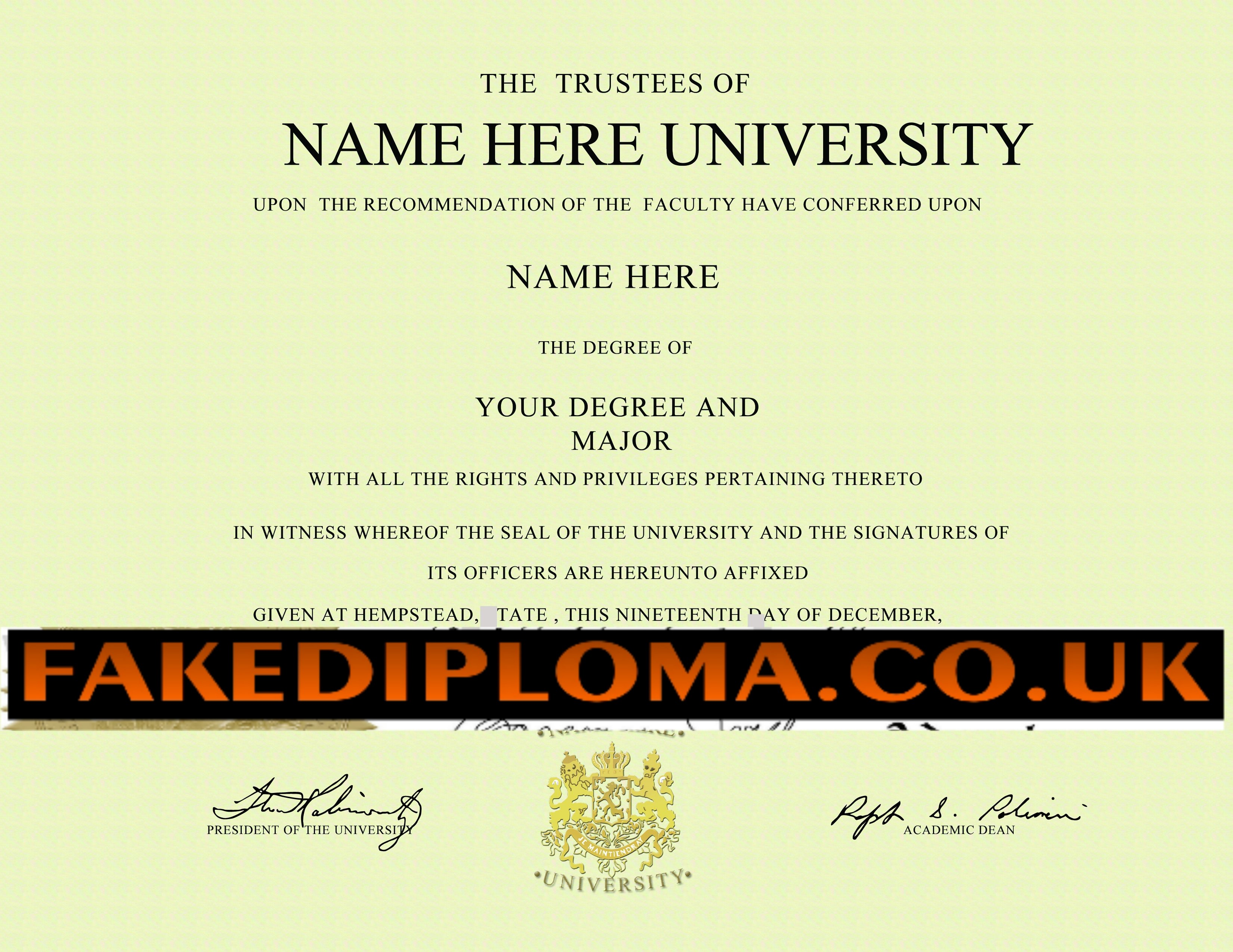 Original creations of any replica diplomas or degrees with more