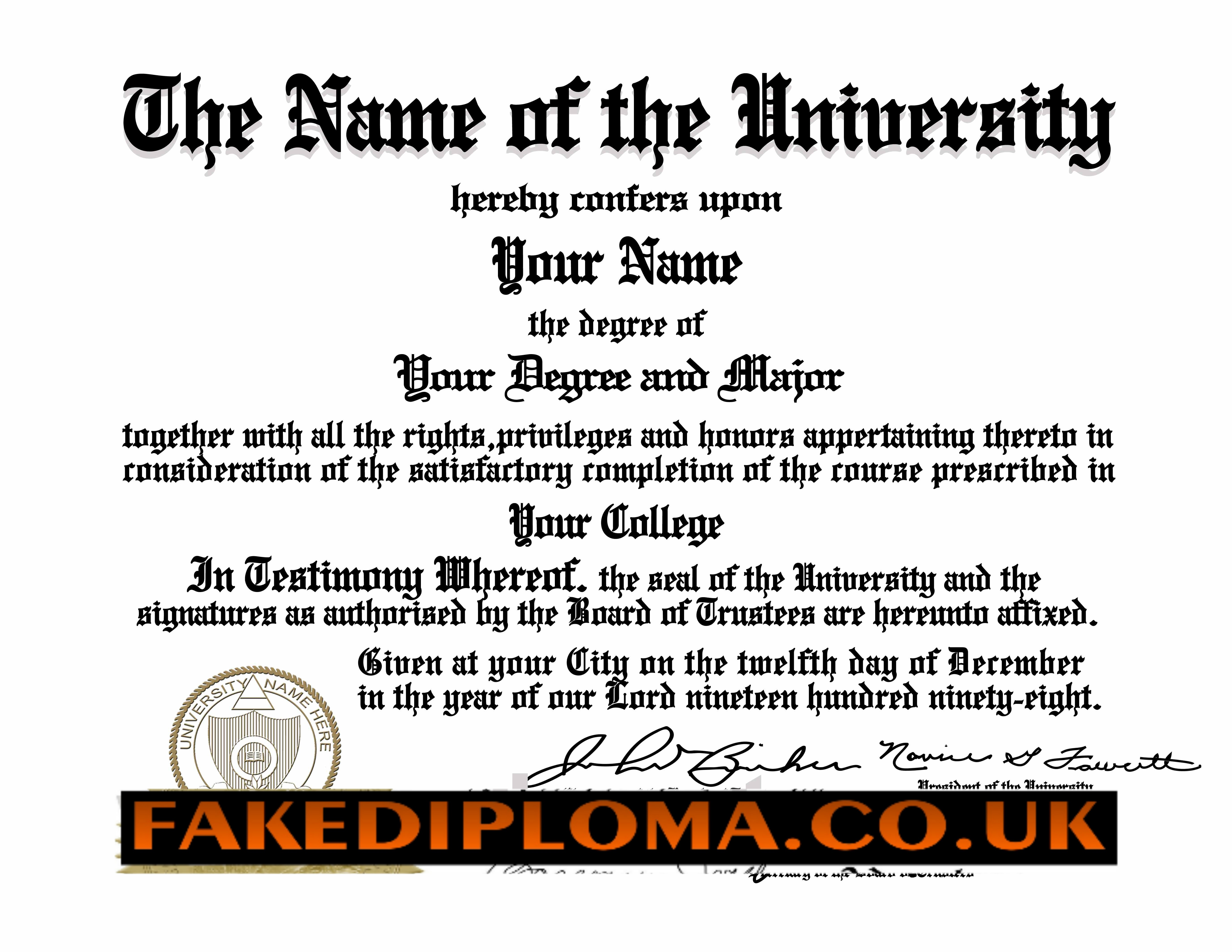 fake college degree diplomas fake transcripts any university the highest quality parchment and security paper are available in several colors and your custom document will be matched closest to our original design